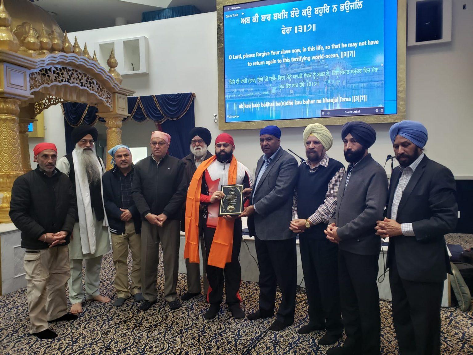 Champion Powerlifter Sumeet Sharma Honoured By Vancouver'S throughout Khalsa Heera Jantri 2021 Pdf