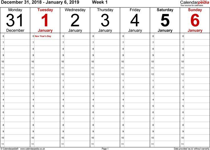 Collect Blank 5 Day Week Calendar Calendar Template 2019 | Calendar Template, Weekly Calendar inside 5 Day Blank Calendar