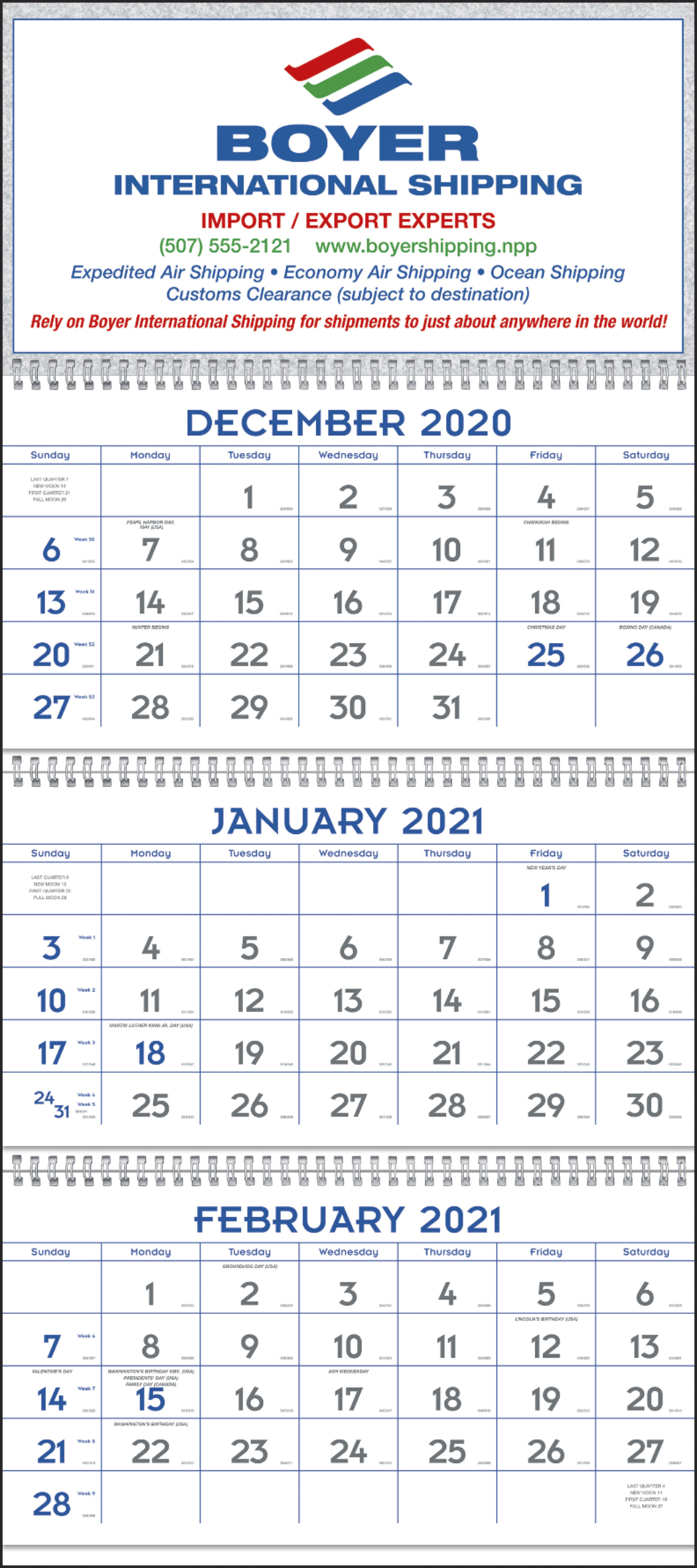 Commercial 3 Month 2021 Custom Planning Calendars | Promos within Last 3 Month Of 2021 Calendar