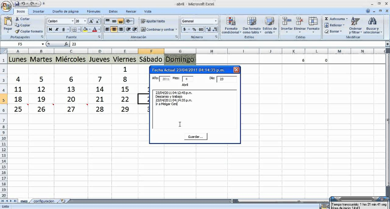 Crear Calendarios Con Excel Macros Y Plantillas Generar pertaining to Excel Seguimiento De Proyecto En Calendario