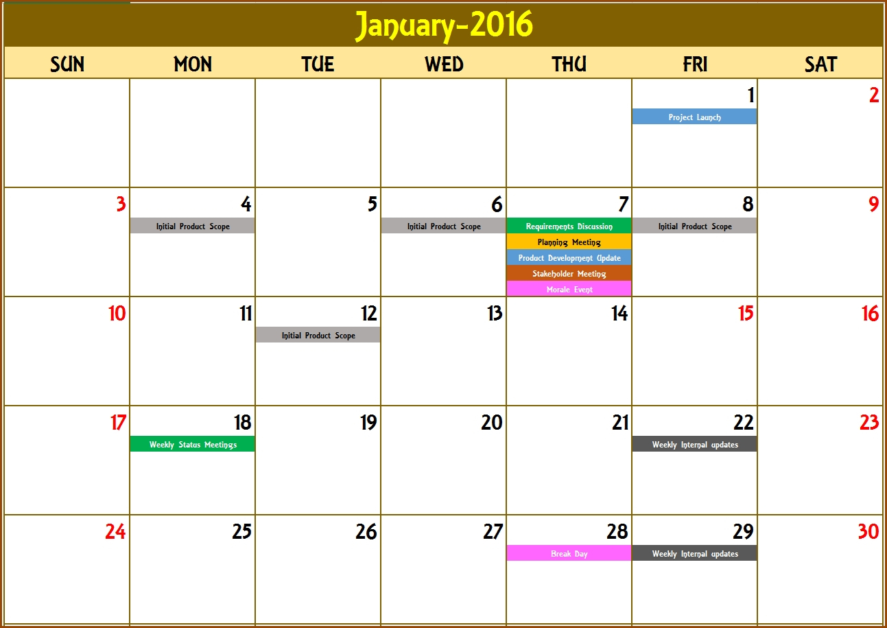 Create A Countdown Calendar In Excel • Printable Blank with regard to How To Export Google Calendar To Excel