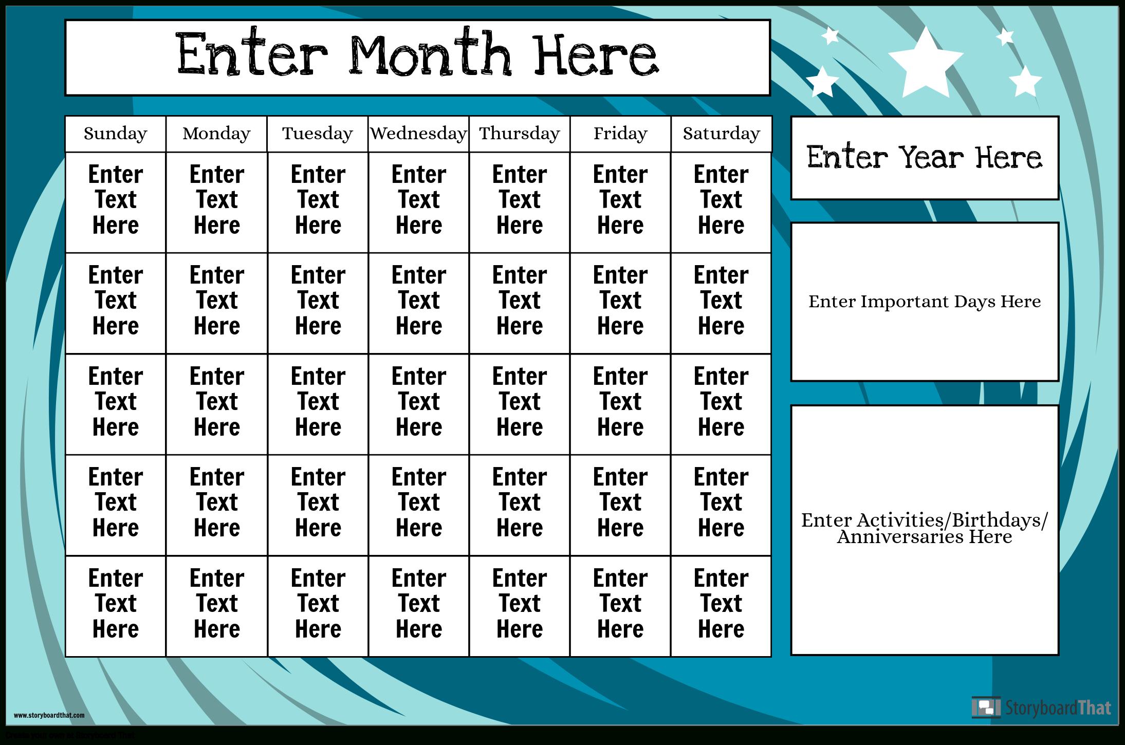 Create Calendar Posters   Calendar Templates in Win Calendar Creator