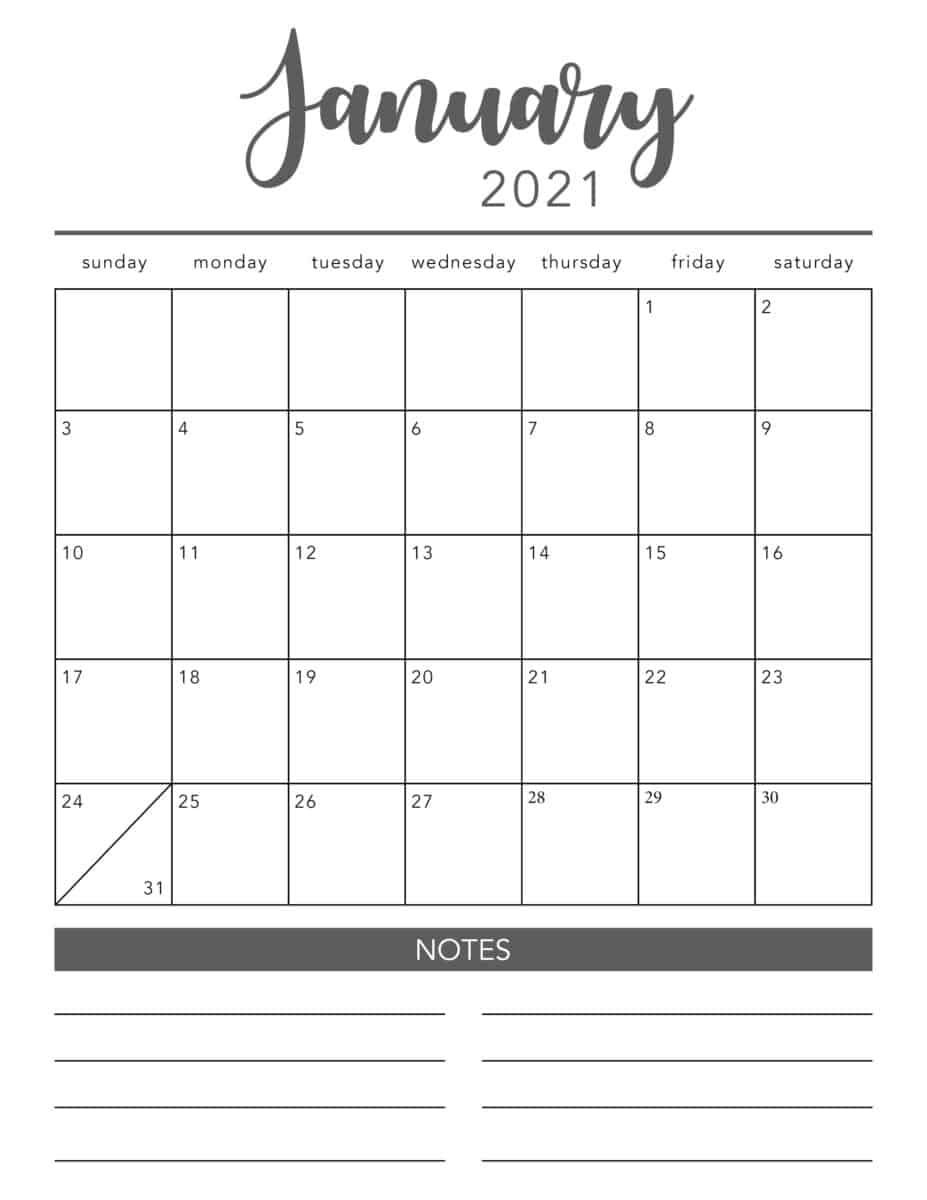 Create Your Printable Calendar 2021 No Download | Get Your throughout Blank Monthly Calendar 2021