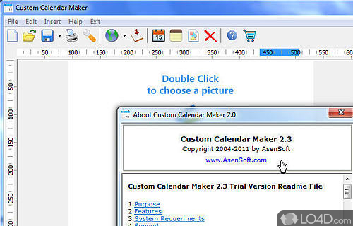 Custom Calendar Maker  Download intended for Win Calendar Creator