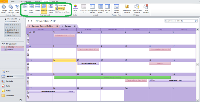 Customize Your Outlook Calendar So That It'S All About You for Print Yearly Calendar Outlook