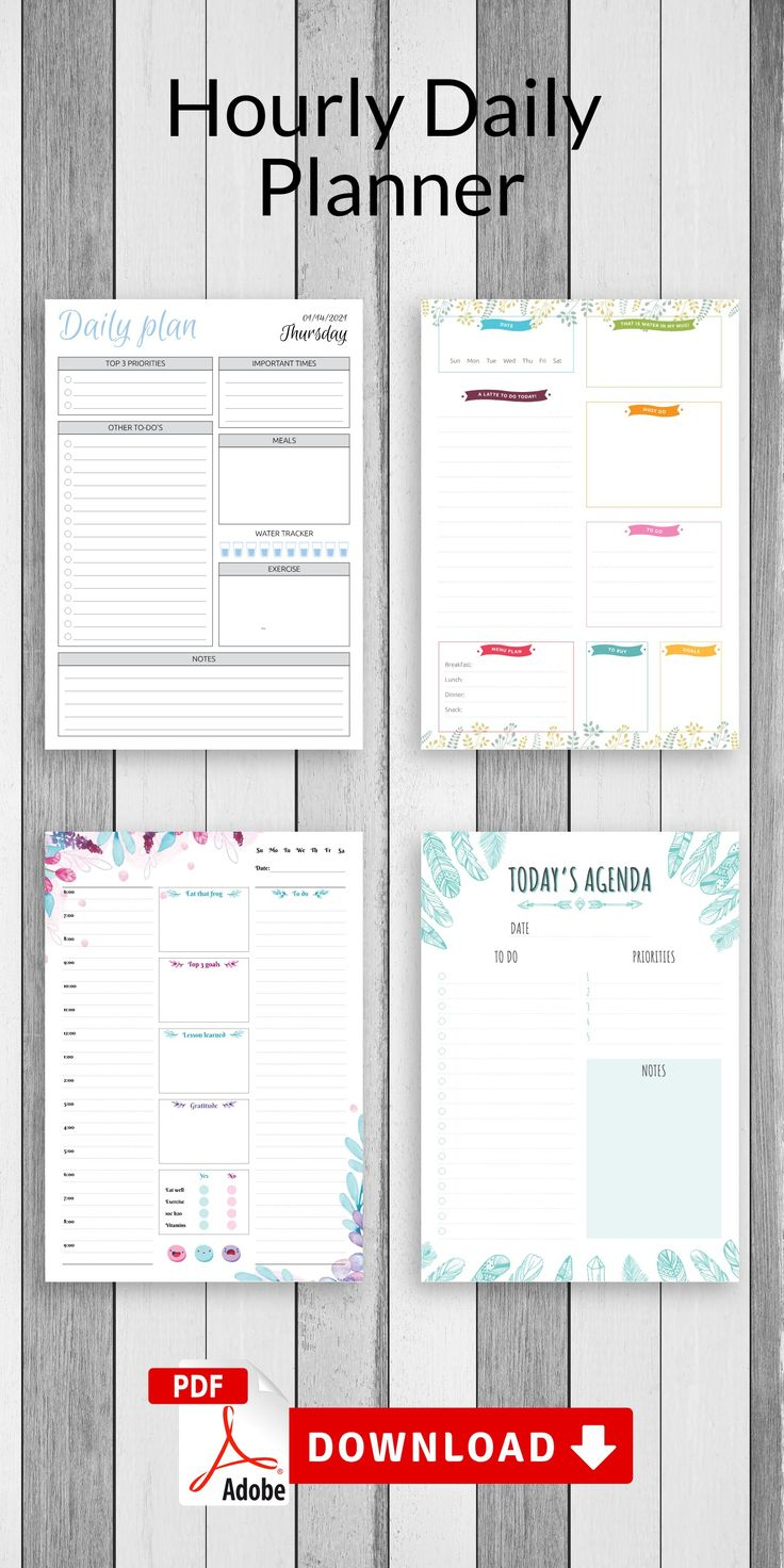 Daily Planner Printable Daily Hourly Schedule Template Am inside Am Pm Calendar Template
