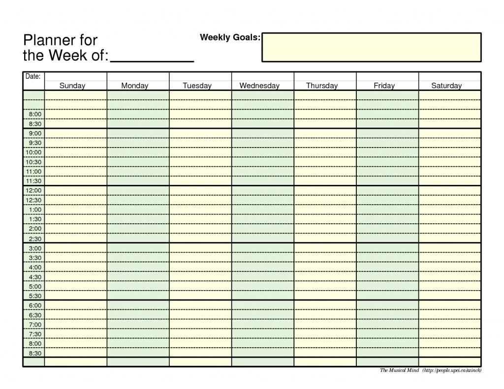 Daily Planner With Time Slots: No Longer A Mystery throughout Weekly Schedule Template With Time Slots