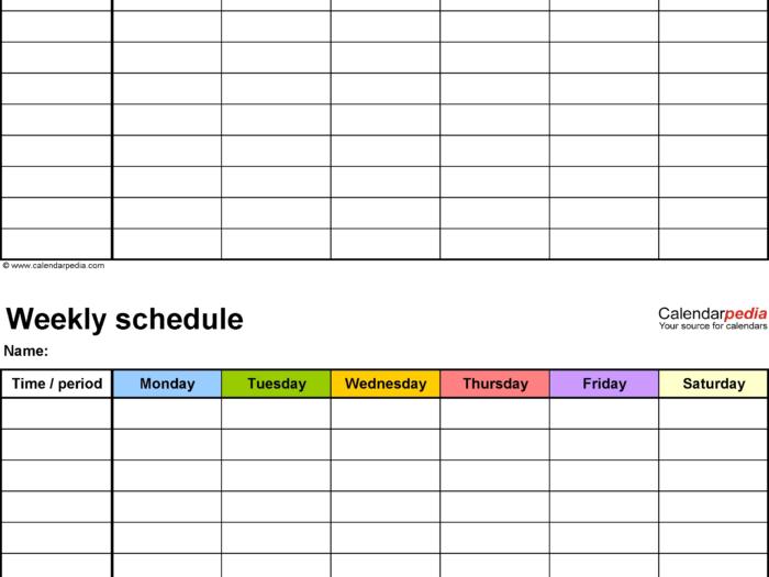 Day 7 Weekly Planner Template  Calendar Inspiration Design throughout 7 Day Weekly Planner Template