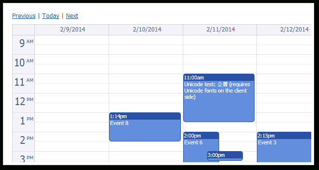 Daypilot Lite For Asp Mvc 1.3 Sp4 | Daypilot For Asp Mvc  Calendar, Scheduler And Gantt in Net Mvc Calendar