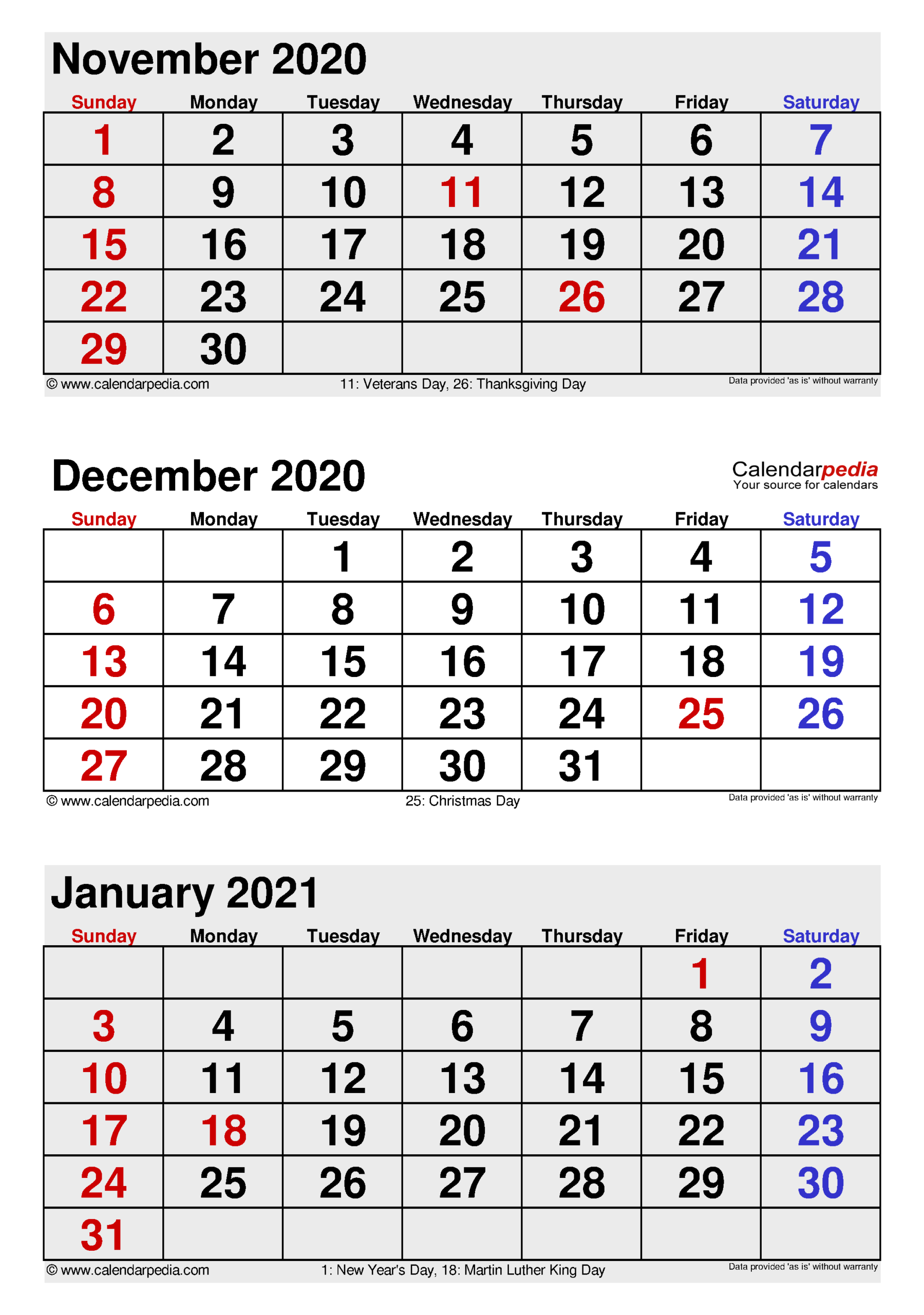 December 2020 Calendar | Templates For Word, Excel And Pdf throughout Last 3 Month Of 2021 Calendar