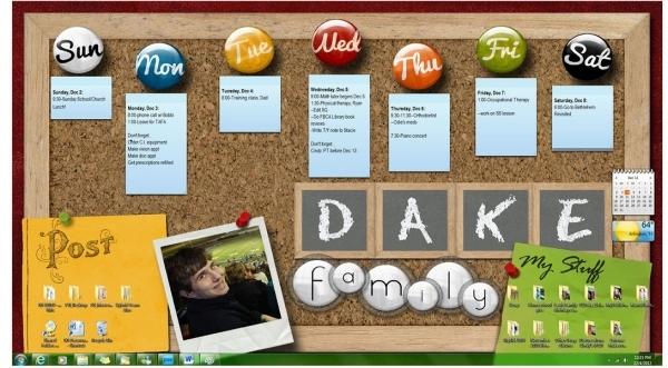 Desktop Bulletin Board (Interactive With Gadgets with How To Make Google Calendar My Desktop Background