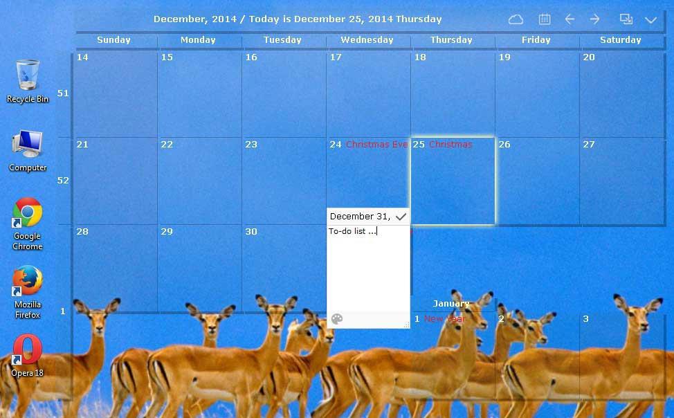 Desktop Calendar within Outlook Calendar Wallpaper