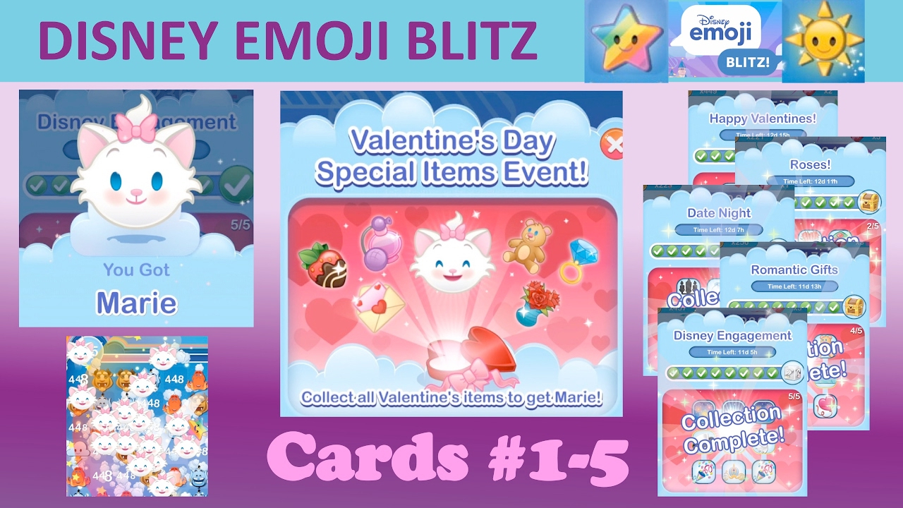 Disney Emoji Blitz Valentines Day Event (Cards 15, Marie pertaining to Emoji Blitz Google Calendar