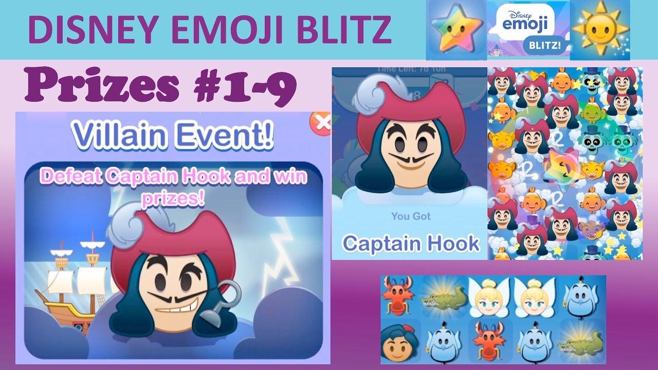 Disney Emoji Blitz Villain Event (Captain Hook) Prizes 19 with regard to Emoji Blitz Google Calendar
