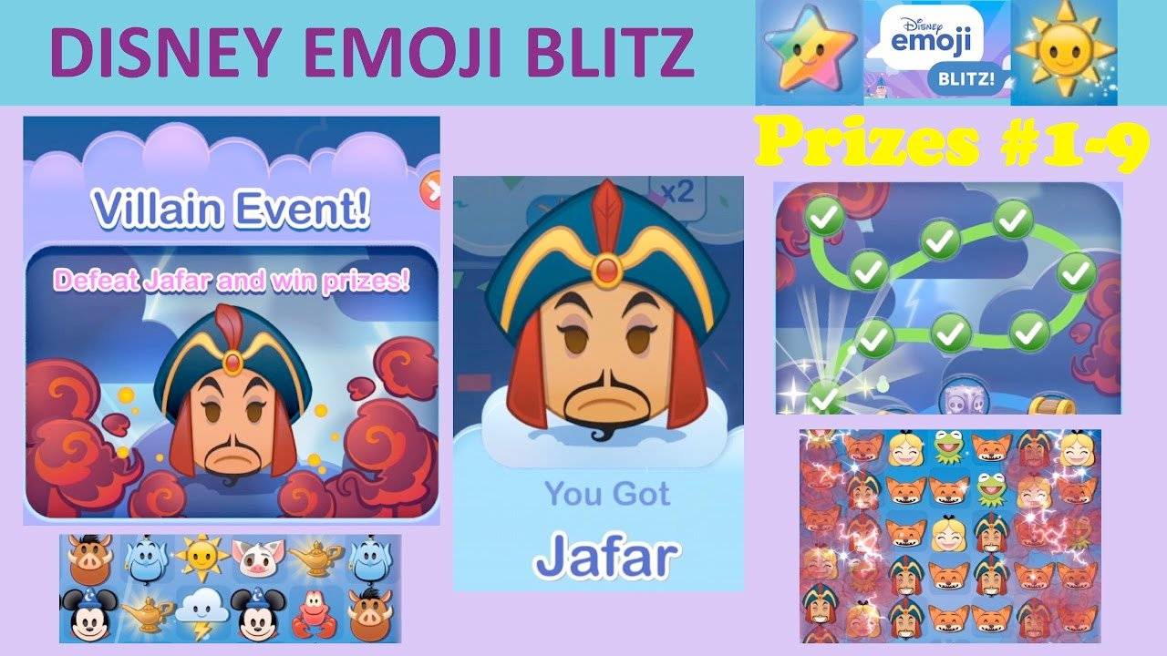 Disney Emoji Blitz Villain Event (Jafar) Intro, Prizes 19 with Emoji Blitz Google Calendar