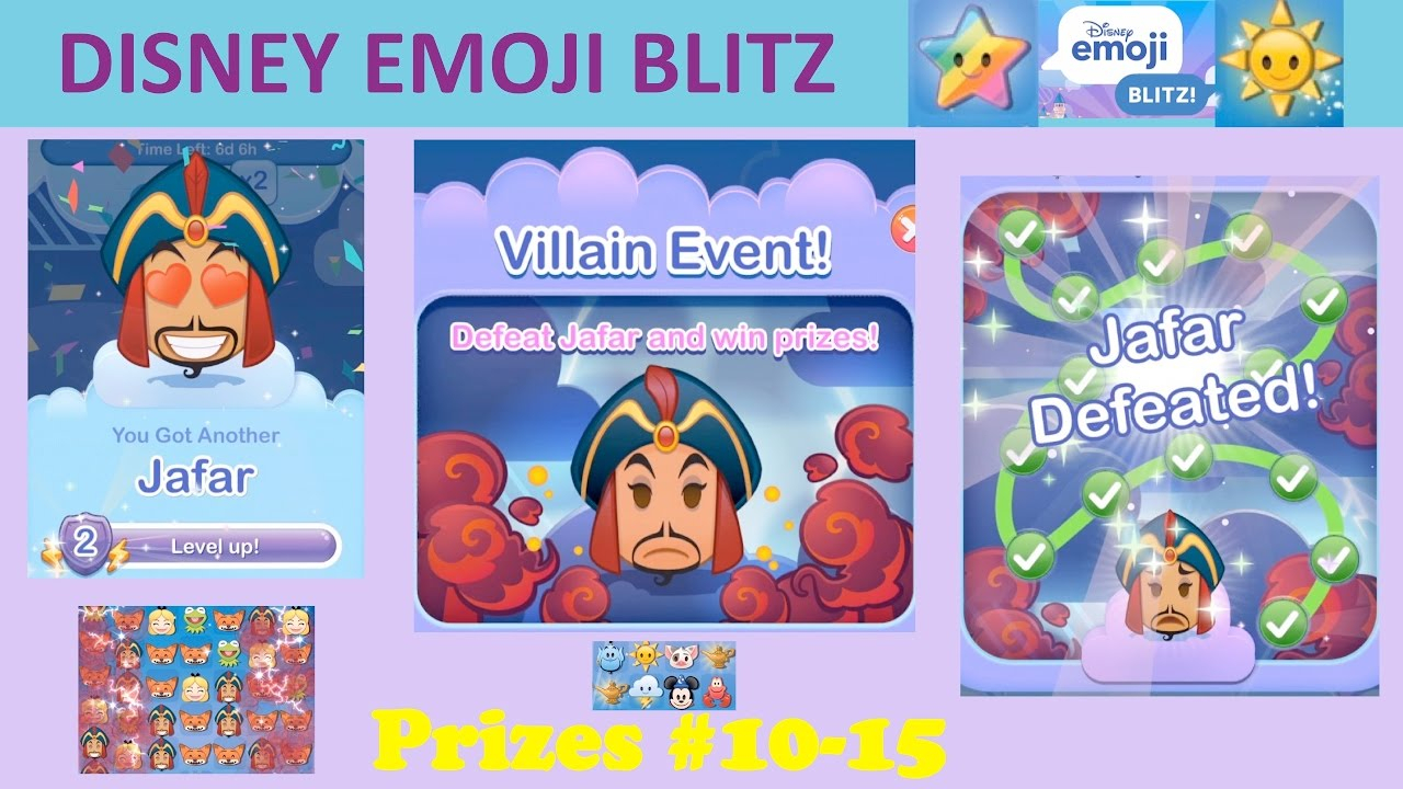 Disney Emoji Blitz Villain Event (Jafar) Prizes 1015 inside Emoji Blitz Google Calendar