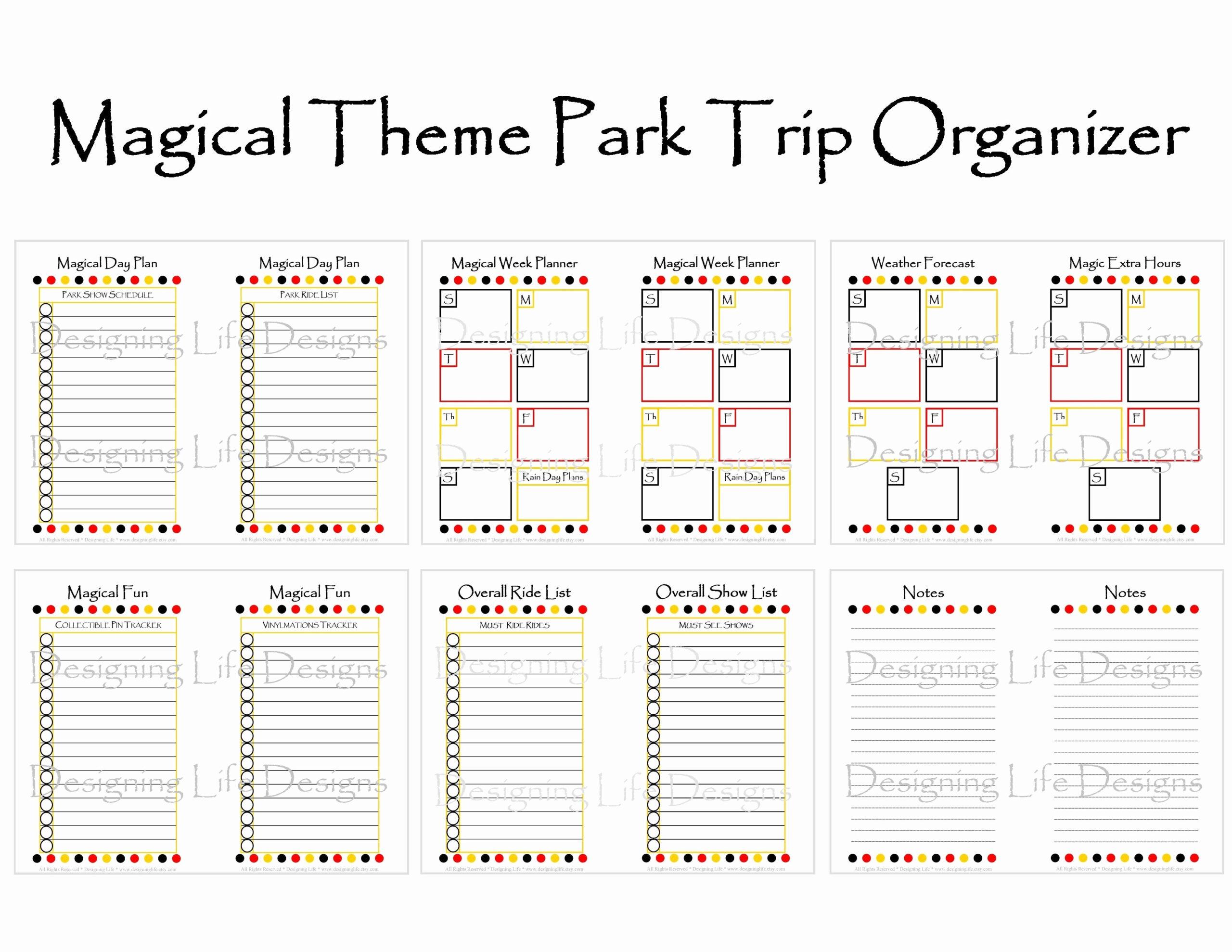Disney World Blank Itinerary Template | Example Calendar pertaining to Disneyland Itinerary Template