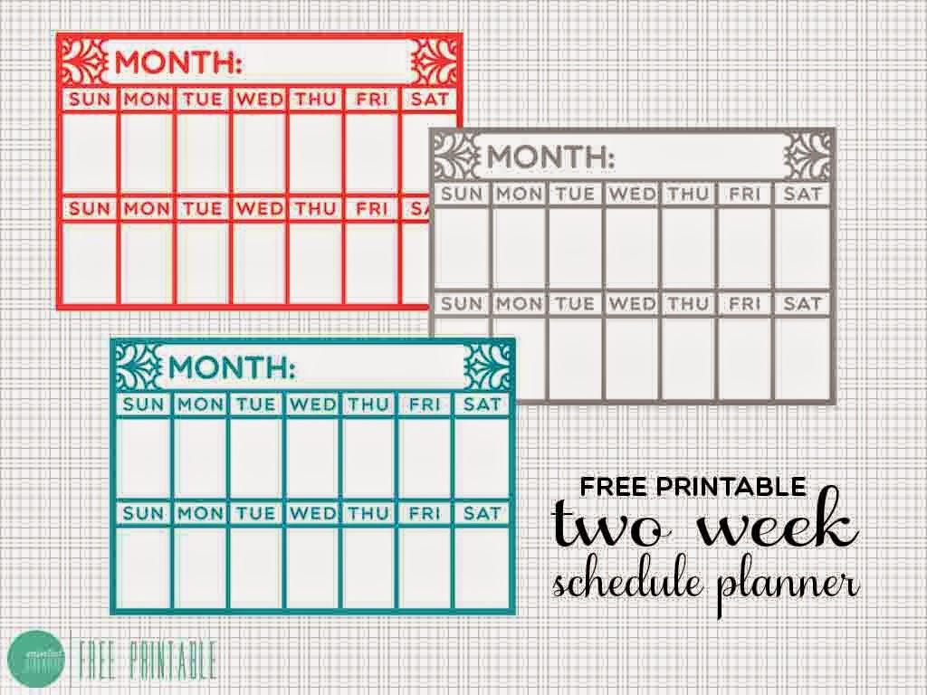 Diy: Two Week Schedule Desk Planner & A Free Printable in Calendar Two Weeks