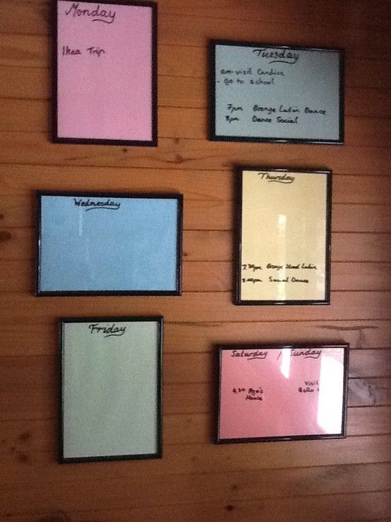 Diy Wall Calendar. Use Whiteboard Marker On Photo Frames for Wall Calendar Frames