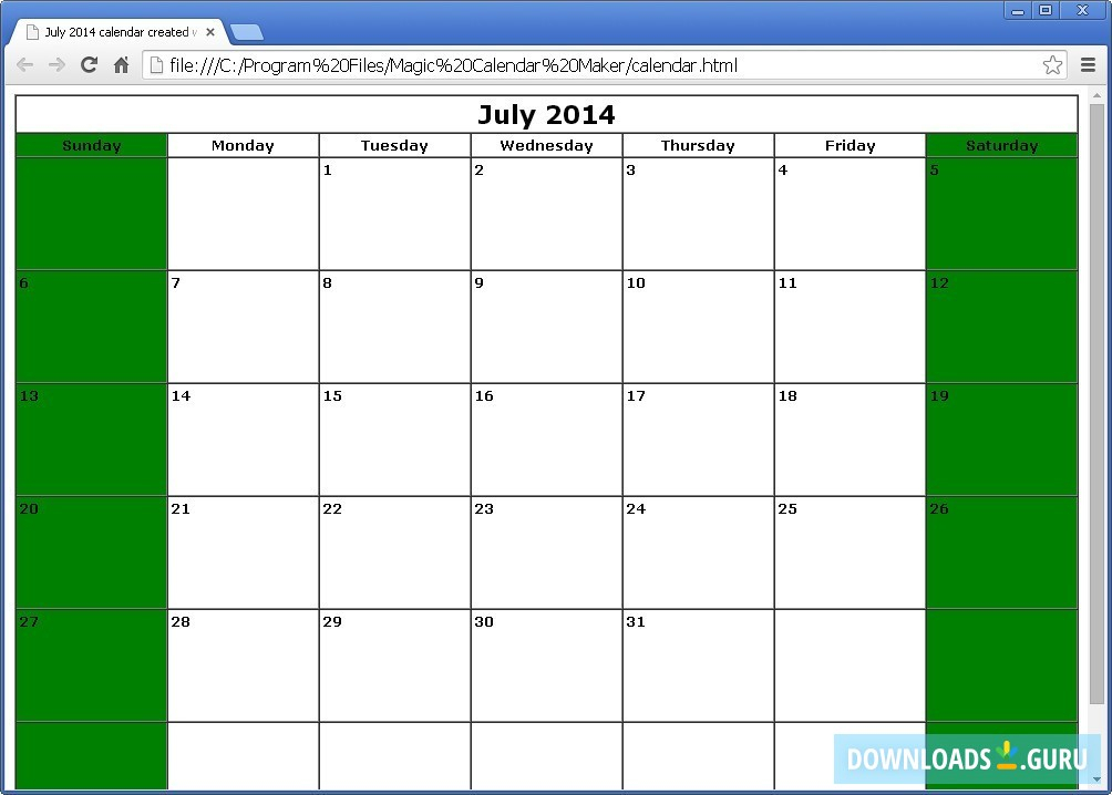 Download Magic Calendar Maker For Windows 1087 (Latest inside Win Calendar Creator