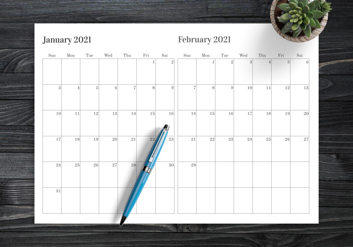 Download Printable Two Months On One Page Calendar Pdf intended for Print 2 Month Calendar