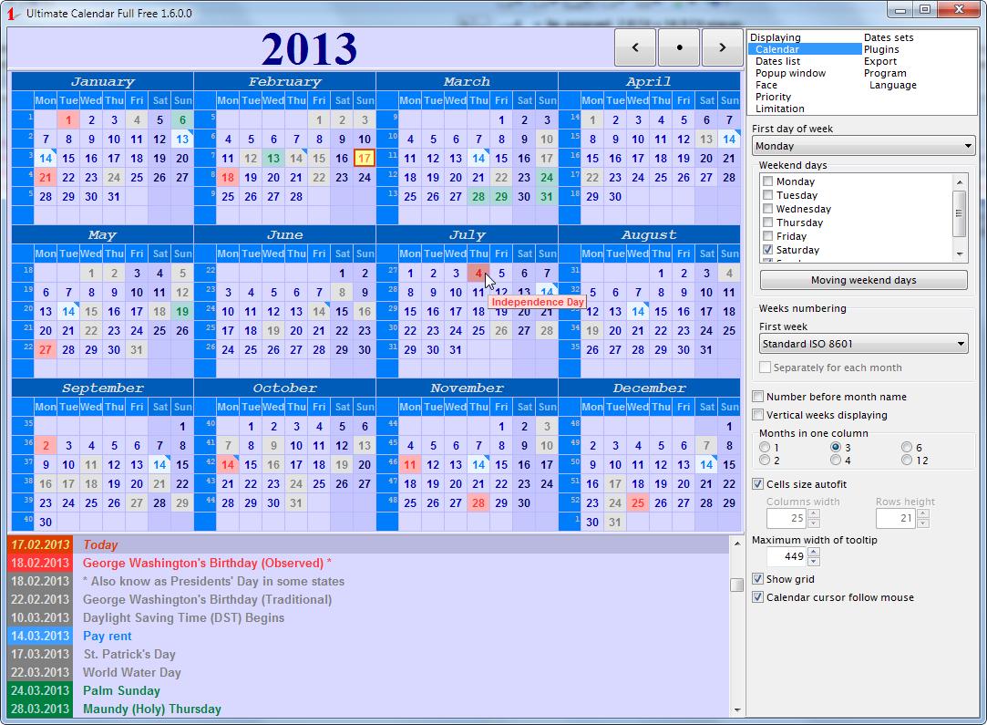 Download Ultimate Calendar Creator Ultimate Organizer inside Win Calendar Creator