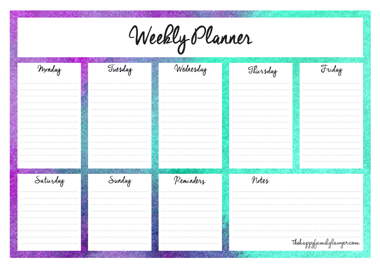 Download Your Free Weekly Planners Now 5 Designs To with regard to 7 Day Planner Template