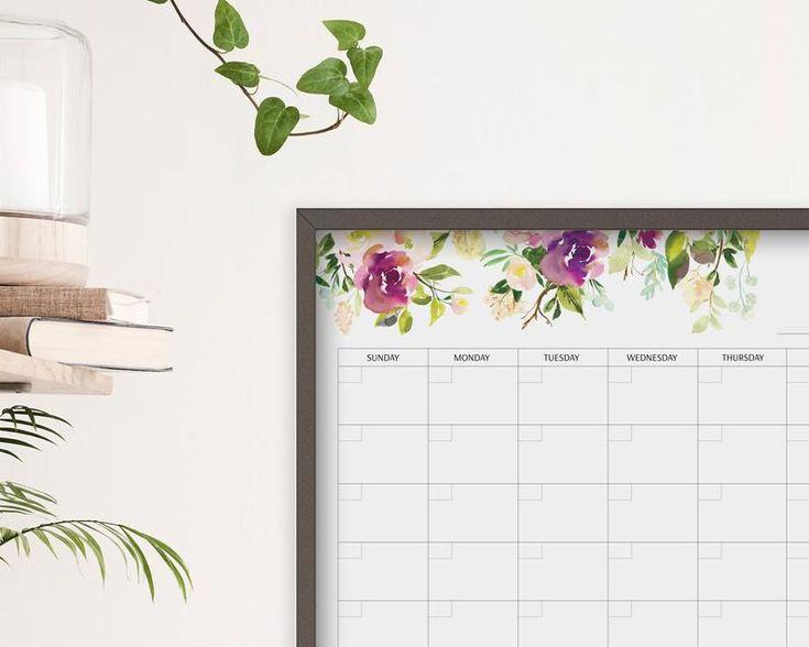 Dry Erase Framed Calendar Command Center   24X18 Wall regarding Wall Calendar Frames