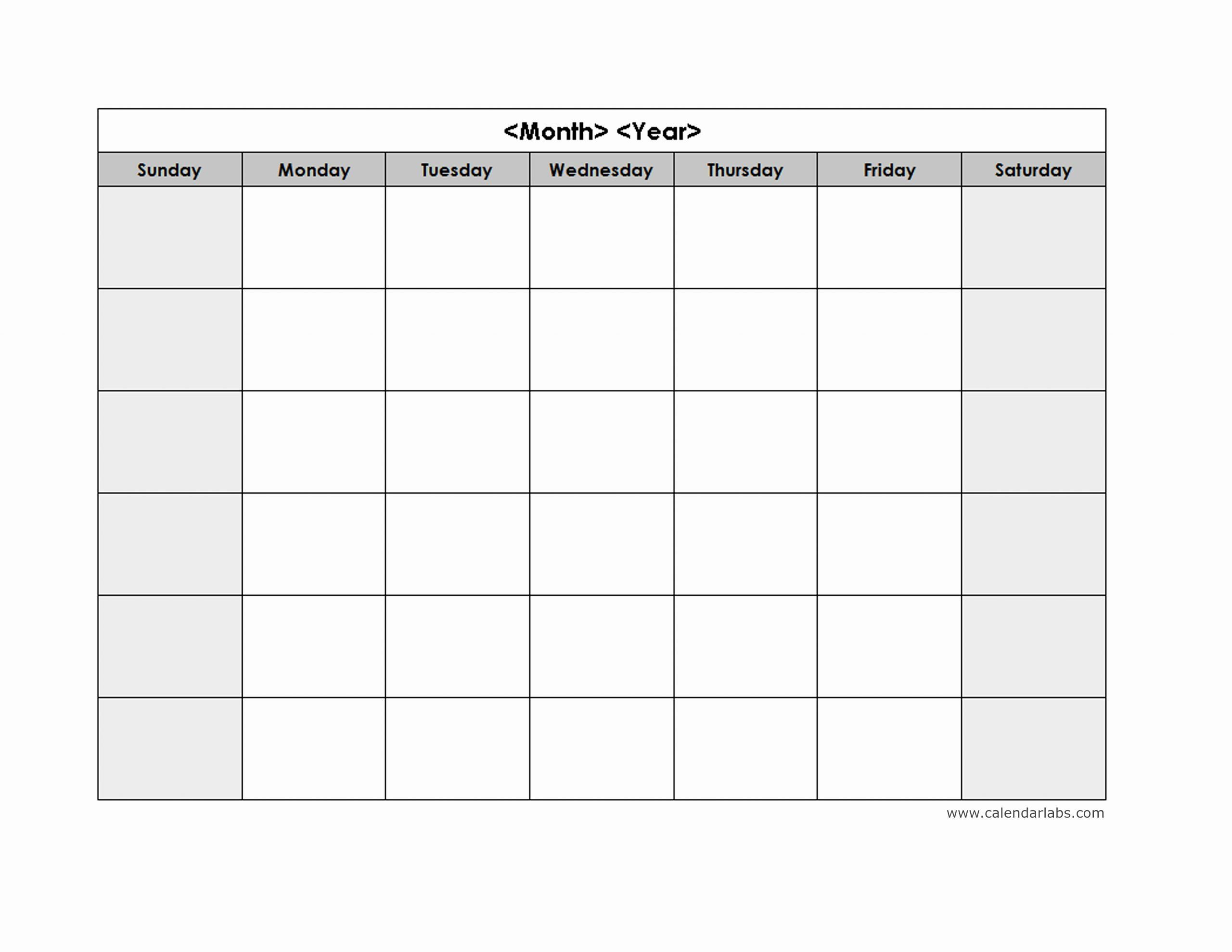 √ 25 Blank Monthly Schedule Template In 2020 | Monthly within Calendar Monday To Sunday