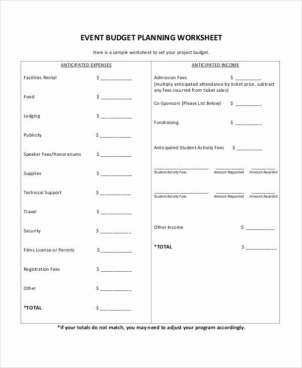 √ 25 Event Budget Proposal Template In 2020   Event Planning Budget, Event Planning Worksheet with regard to Event Planning Worksheet Template