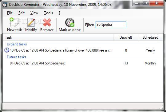 Easily Remember Your Future Tasks for Desktop Reminder Calendar Apps Free