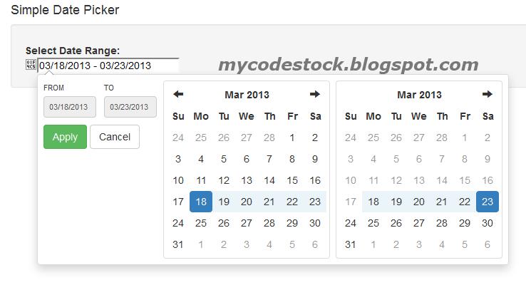 Easy To Use Bootstrap Date Range Picker  Mycodestock inside Qualtrics Date Range Picker