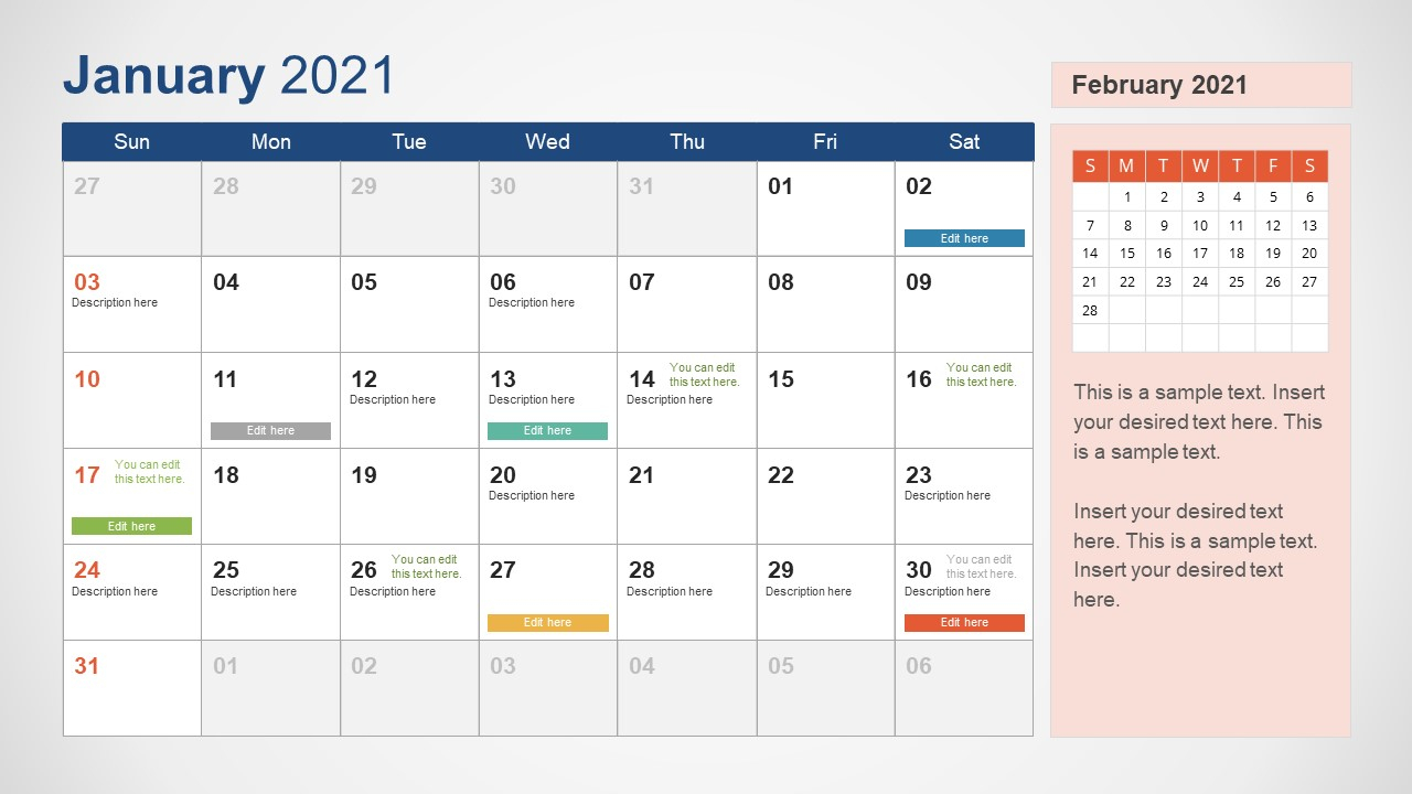 Editable 2021 Calendar Editable Free Calendar Template intended for Desktop Calendars 2021 Free Printable