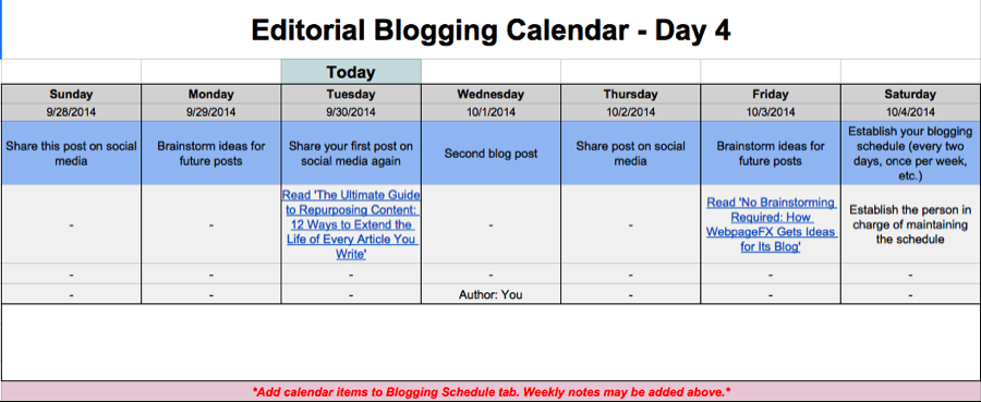 Editorial Calendar Templates For Content Marketing: The with Google Docs Editorial Calendar Template