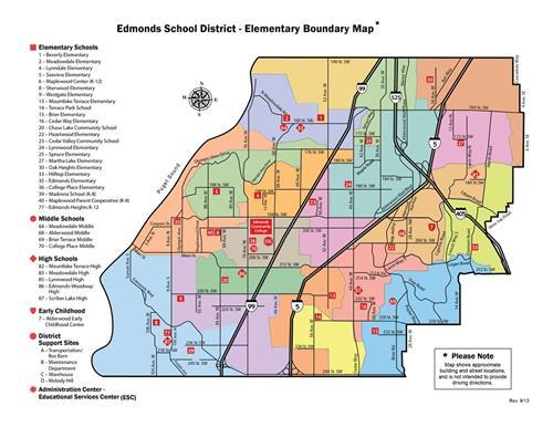 Elementary School Boundary Map  Edmonds School District intended for Edmond Ok School Calendar