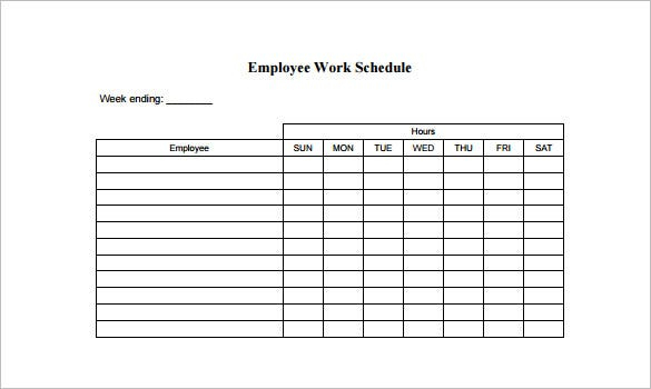 Employee Schedule Template  14+ Free Word, Excel, Pdf with Two Week Calendar Template Word