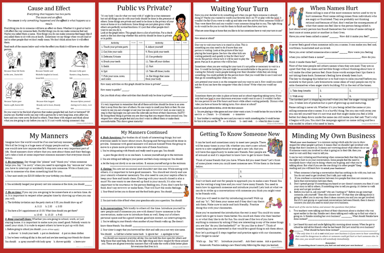 Empowered By Them: Social Skills Packet Complete! for Autism Social Skills Profiel 2