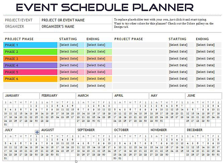 Event Scheduler Planner Spreadsheet Template Excel  Microsoft Excel Template And Software throughout Event Planning Worksheet Template