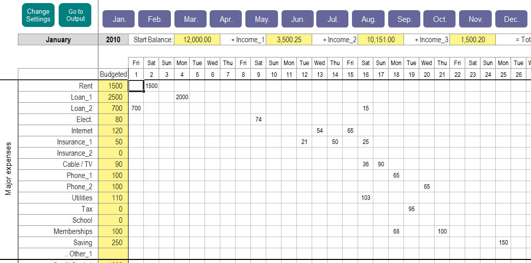 Excel Personal Expense Tracker  My Excel Templates intended for Excel Monthly Tracker Template