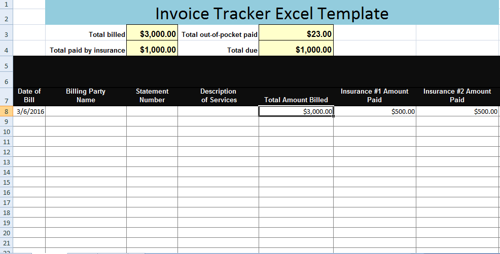 Excel Templates Billing Tracker  Deola regarding Excel Monthly Tracker Template