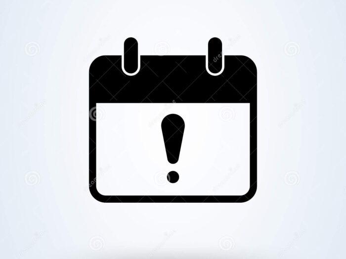Exclamation Calendar Simple Vector Modern Icon Design throughout Calendar Icon Material Design