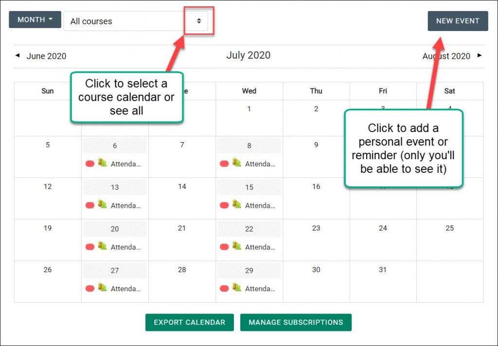 Exporting Moodle Calendars To Your Personal Calendar within How To Export Google Calendar To Excel