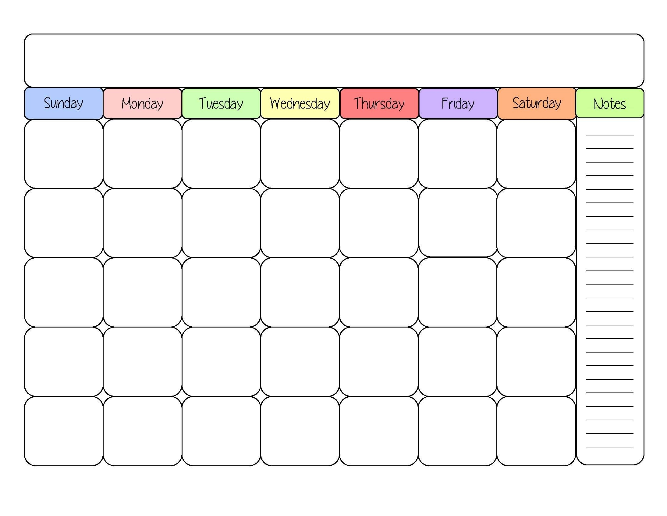 February 2019  Page 4  Template Calendar Design with Fill In Calendar