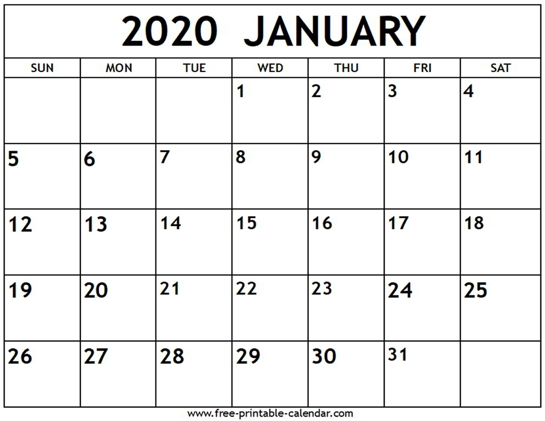 Fill In Calendar Template 2020 | Calendar Template Printable in Fill In Calendar