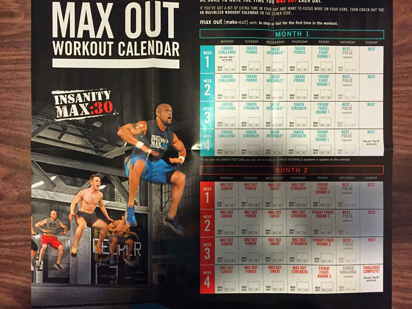 Fill Me With Meaning: Insanity Max:30 Review: Overview throughout Insanity Max 30 Schedule Month 2