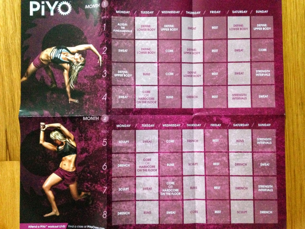 Fill Me With Meaning: Piyo Overview And Piyo: Align: The intended for Piyo Calendar Printable