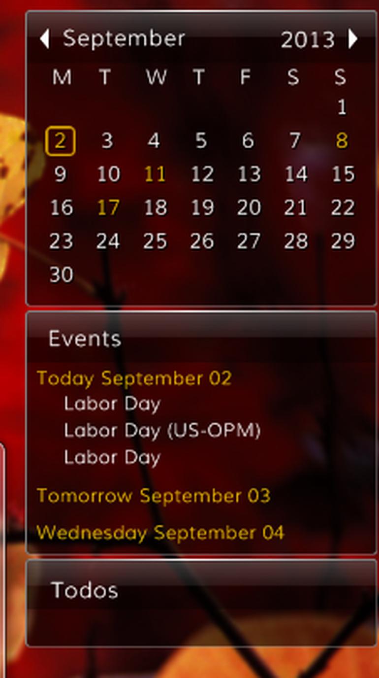 Five Free But Powerful Desktop Calendars  Techrepublic in Desktop Reminder Calendar Apps Free