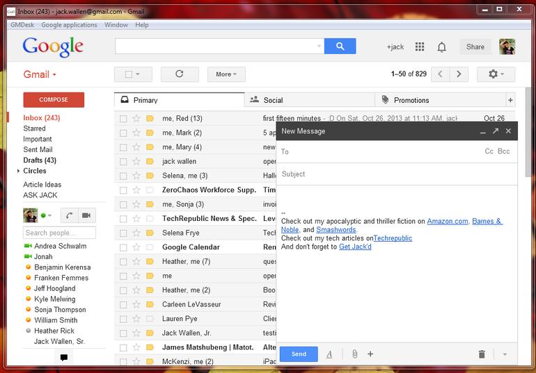Five Free Gmailfriendly Email Desktop Clients  Techrepublic with Google Calendar Desktop App