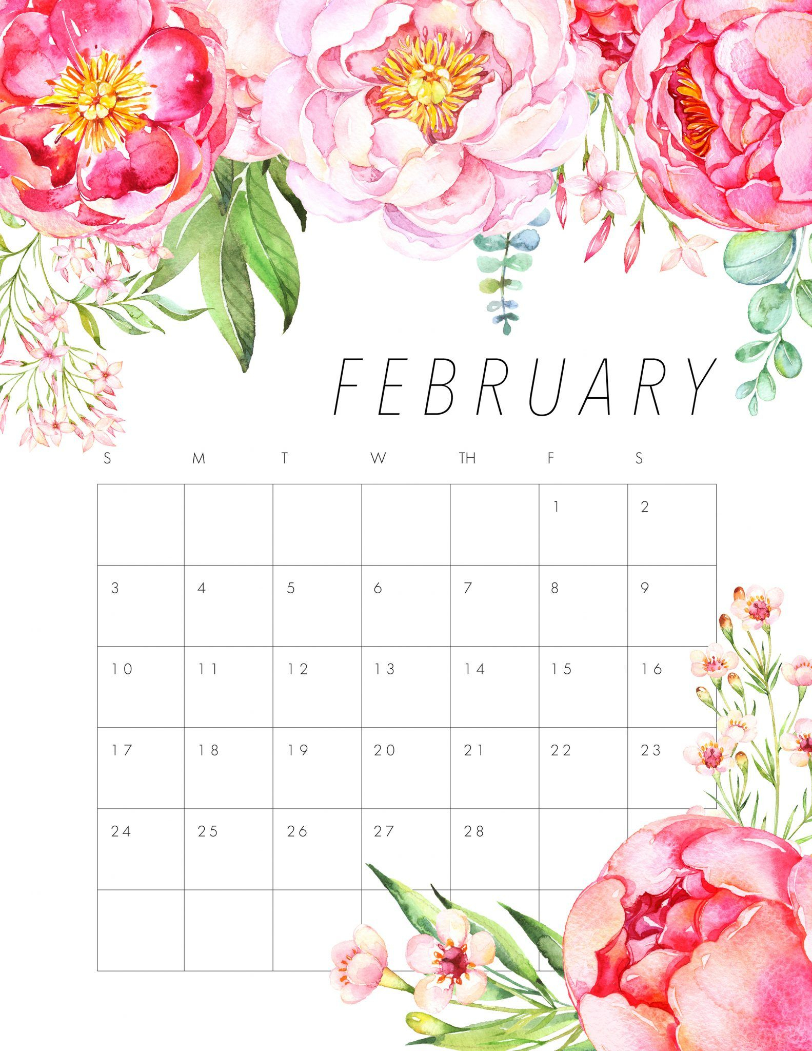 Floral February 2020 Wall Calendar Wallpaper For Desktop with How To Make Google Calendar My Desktop Background