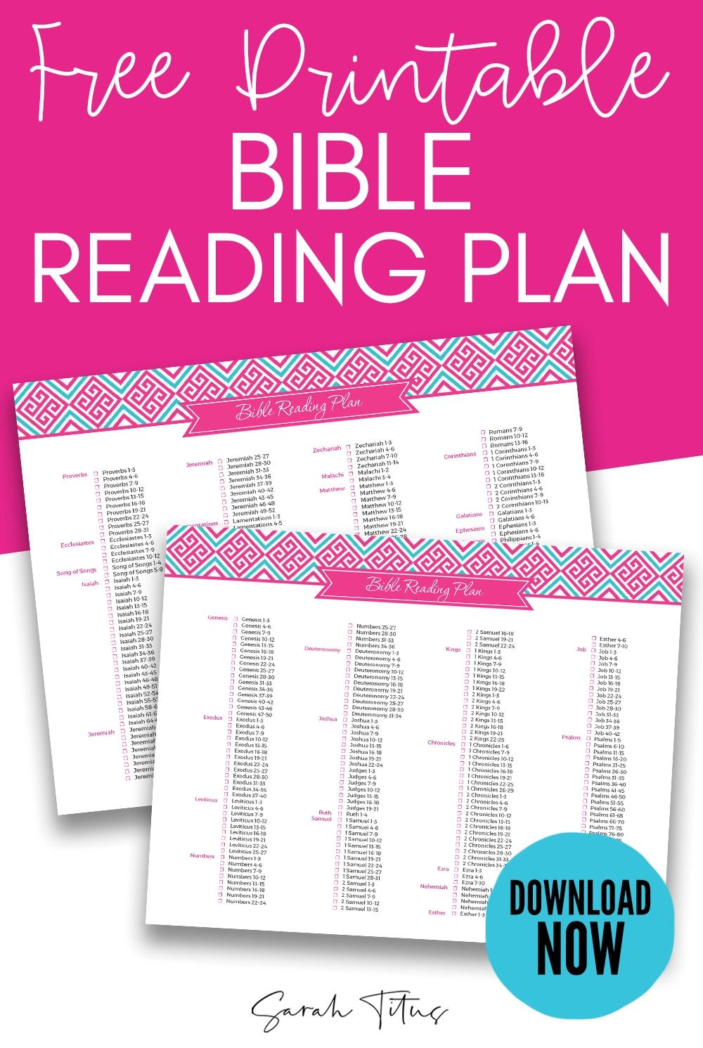 Free 2020 Bible Reading Schedule | Get Free Calendar regarding Sarah Titus Printables
